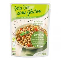 Ma Vie Sans Gluten - Céréales cuisinées lentilles/soja/duo riz sarrasin 220gr