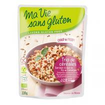 Ma Vie Sans Gluten - Trio céréales au naturel sarrasin, 2 riz de Camargue 220gr