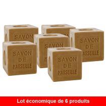 Marius Fabre - Lot de 6 Savons de Marseille vert - 6 x 600g