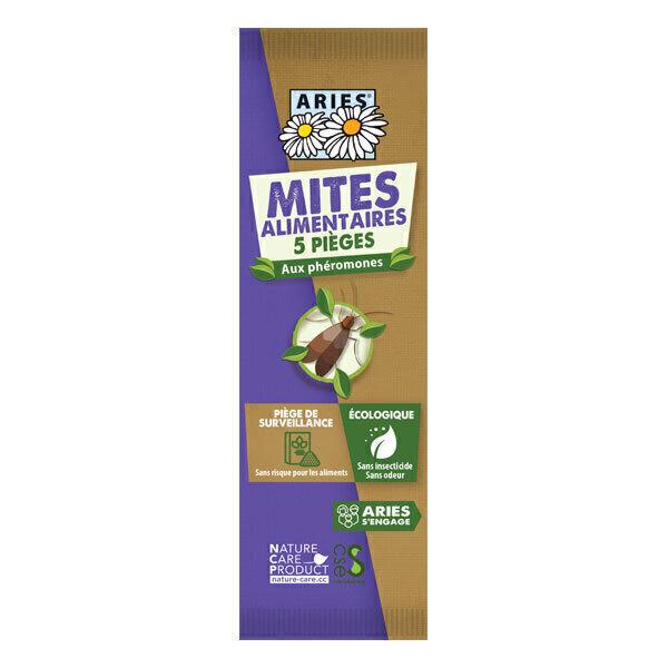 Aries - Lot de 5 piège à mites alimentaires
