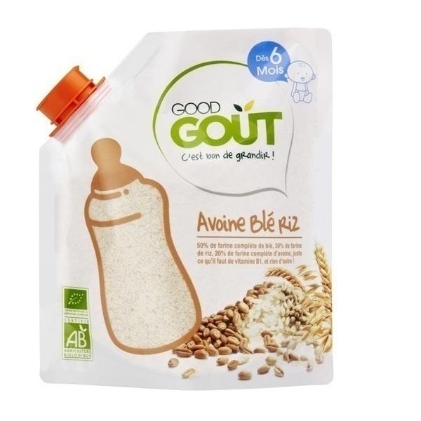 Good Gout - Céréales en poudre avoine blé riz 220g - Dès 6 mois