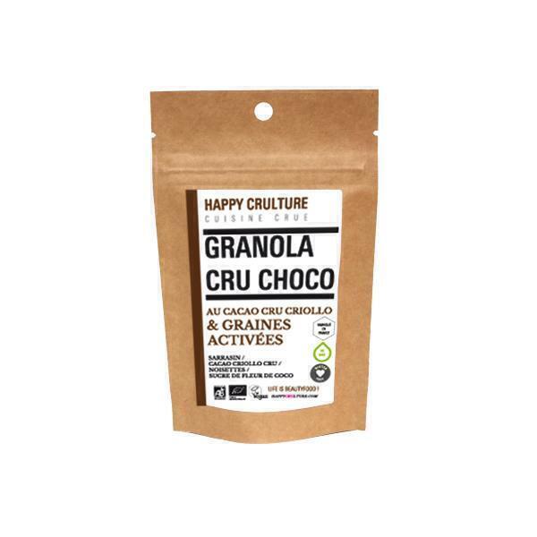 Happy Crulture - Granola au chocolat cru 50g