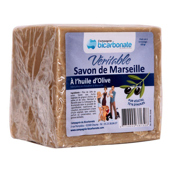 savon de marseille v ritable 600g la compagnie du bicarbonate acheter sur. Black Bedroom Furniture Sets. Home Design Ideas