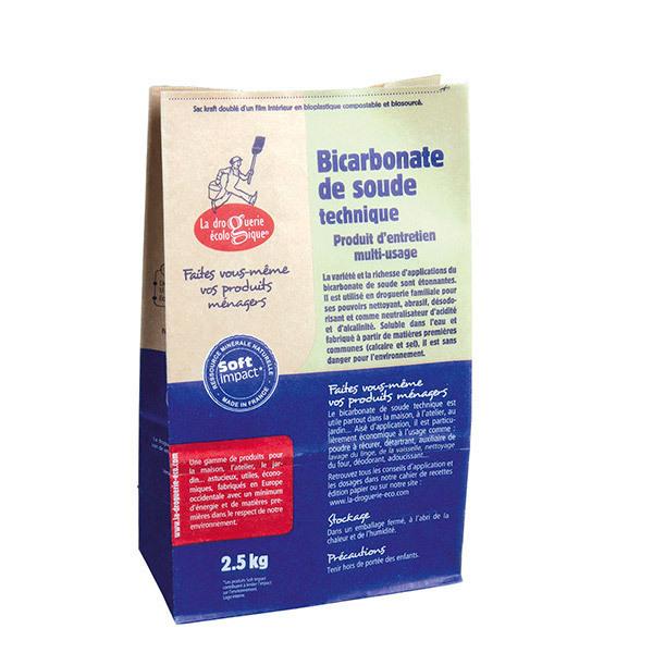 La Droguerie écologique - Lot de 2 Bicarbonate de soude technique 2,5kg