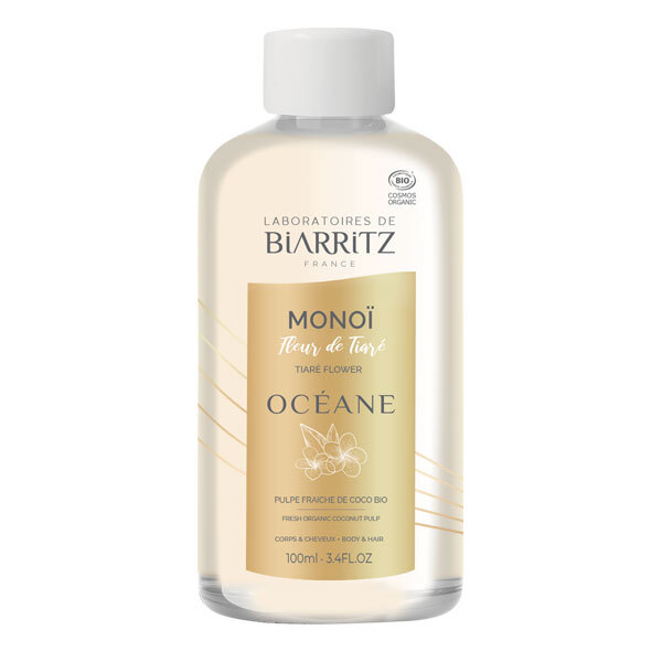 Laboratoires de Biarritz - Huile soin corps et cheveux Monoï et Fleurs de tiaré 100ml