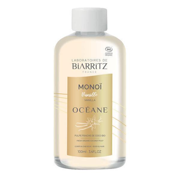 Laboratoires de Biarritz - Huile soin corps et cheveux Monoï et Vanille des îles 100ml