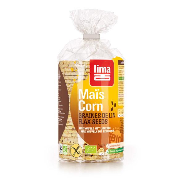 Lima - Galettes de Maïs aux Graines de Lin 150g