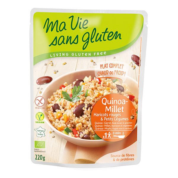 Ma Vie Sans Gluten - Céréales cuisinées quinoa-millet, haricots rouges légumes 220gr