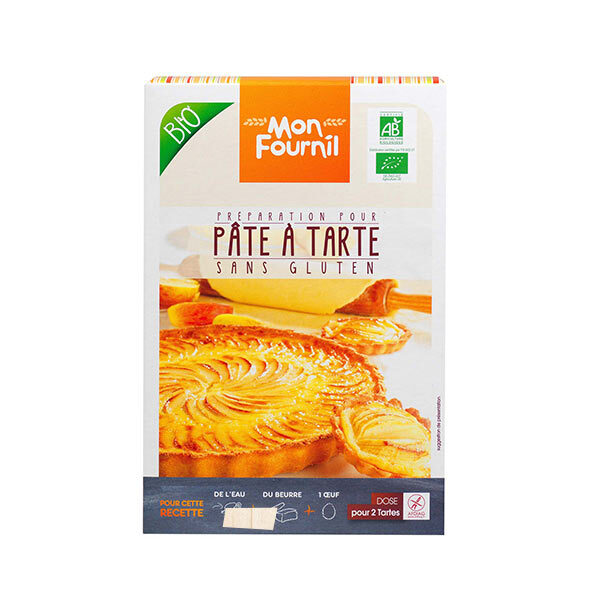 Mon Fournil - Préparation Pâte à tarte bio sans gluten 2 x 200 g