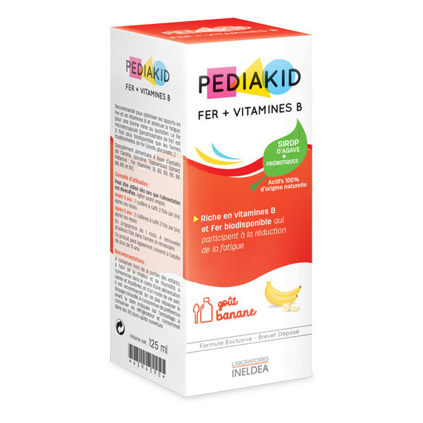 Pediakid - Pediakid® Fer + Vitamines B Sirop 125ml (banane)
