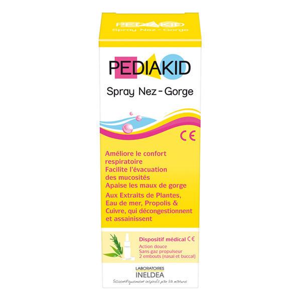 Pediakid - Spray Nez-gorge - Dispositif médical - Flacon 20ml