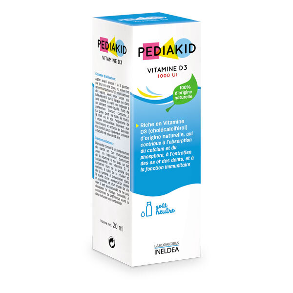 Pediakid - Vitamine D3 1000UI Flacon compte-gouttes 20ml