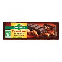Bonneterre - Chocolat Noir Amandes Caramelisées bio 40g