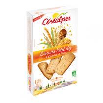 Céréalpes - Biscuits Petits déj 4 Céréales et Miel 200g