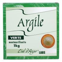 Ciel d'azur - Argile naturelle verte surfine 1kg