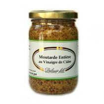 Delouis - Moutarde Entière Vinaigre de Cidre avec grains 200g