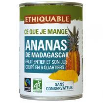 Ethiquable - Ananas entier et son jus Madagascar  410g