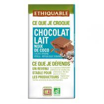 Ethiquable - Chocolat lait noix de coco BIO 100g