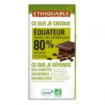 Ethiquable - Chocolat noir Equateur 80% BIO 100g
