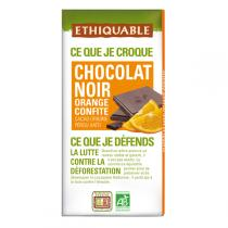 Ethiquable - Chocolat noir orange confite BIO 100g
