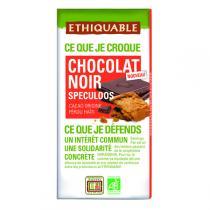 Ethiquable - Chocolat noir spéculoos BIO 100g