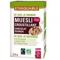 Ethiquable - Muesli croustillant chocolat noir quinoa BIO 375g