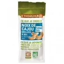 Ethiquable - Noix de Cajou grillées à sec sans sel Salvador 100g