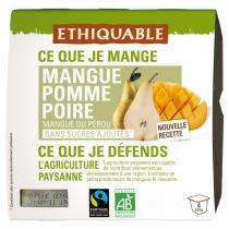 Ethiquable - Purée mangue pomme poire BIO 4x100g