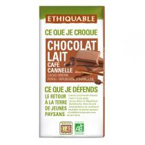 Ethiquable - Chocolat lait café cannelle BIO 100g