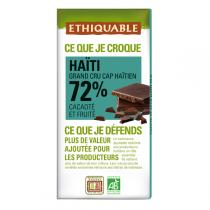 Ethiquable - Chocolat noir 72% cacao Haïti BIO 100g