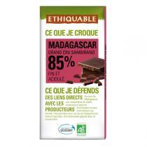 Ethiquable - Chocolat noir 85% cacao Madagascar BIO 100g