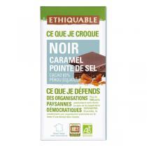 Ethiquable - Chocolat noir caramel pointe de sel BIO 100g