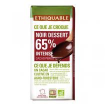 Ethiquable - Tablette chocolat  noir dessert Equateur Côte d'Ivoire 200g