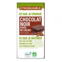 Ethiquable - Chocolat noir fèves cacao BIO 100g