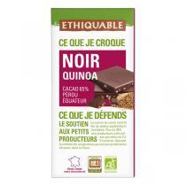Ethiquable - Tablette chocolat  noir quinoa Equateur Côte d'Ivoire 100g