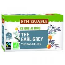 Ethiquable - Thé earl grey Darjeeling BIO - 20 sachets