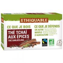 Ethiquable - Thé tchaï Darjeeling BIO - 20 Sachets
