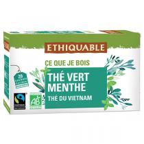 Ethiquable - Thé vert menthe Vietnam BIO 20 sachets
