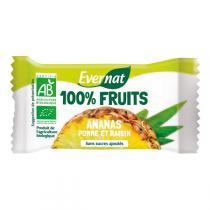 Evernat - Barre De Fruits Séchés Ananas bio 30g