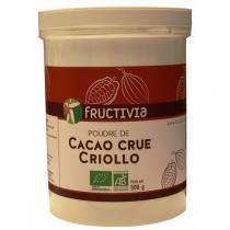 Fructivia - Poudre de cacao crue criollo 500gr