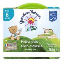 Grandeur Nature - Purée Colin Petits pois Fromage frais 200g