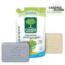 Greenweez.com - Pack don en nature Shampoing et Savons