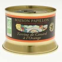Maison Papillon - Terrine Canard Pur Volaille à l'Orange 130g