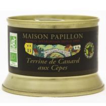 Maison Papillon - Terrine Canard Pur Volaille aux Cèpes 130g