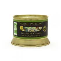 Maison Papillon - Terrine Canard Pur Volaille aux Olives Vertes 130g