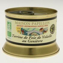 Maison Papillon - Terrine Foie de Volaille au genièvre 130g