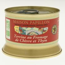 Maison Papillon - Terrine Fromage de Chèvre, Thym à Base de Porc 130g
