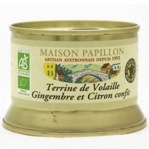 Maison Papillon - Terrine Pur Volaille gingembre Citron Confit 130g