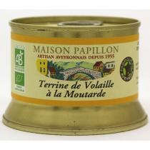 Maison Papillon - Terrine Pur Volaille Moutarde à l'Ancienne 130g
