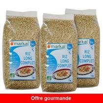 Markal - Offre Riz long Complet 1kg x 3